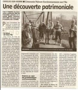 AG de Limousin Nature Environnement 2011 - Le Populaire