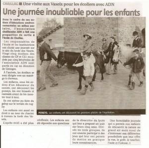 Ecole de Chaillac au Vaseix 2011- le populaire