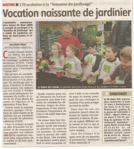 Article Gammvert 2013- le populaire Mars 2013