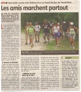 Article Randonnée Lac de Vassivière - Le populaire aout 2012