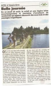 Article randonnée autour du lac de Vassivière- la nouvelle abeille aout 2012